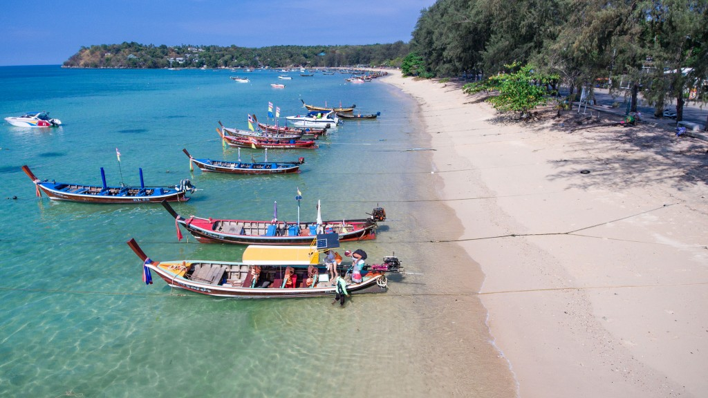 rawai beach boats longtails