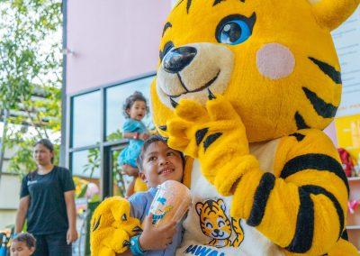 Tiger mascot at park