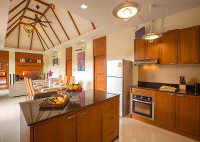 Kitchen at villa