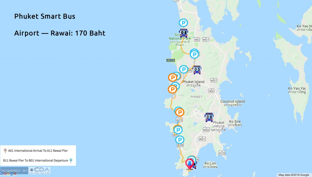 smart bus phuket routes
