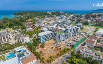 Construction site of VIP KATA 2 Condominium