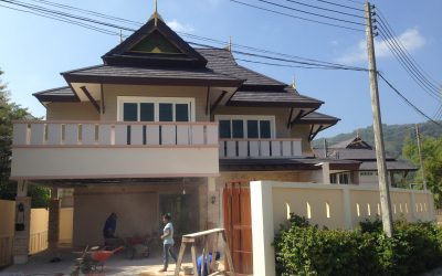 3-bedrooms house for sale construction in Chalong