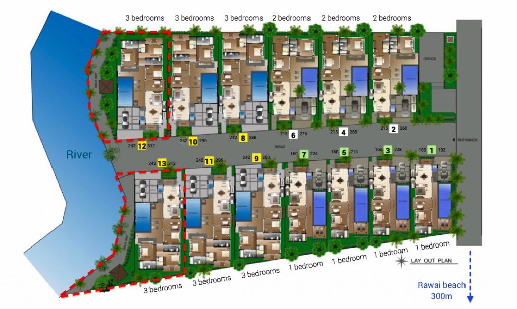 vip villas rawai masterplan
