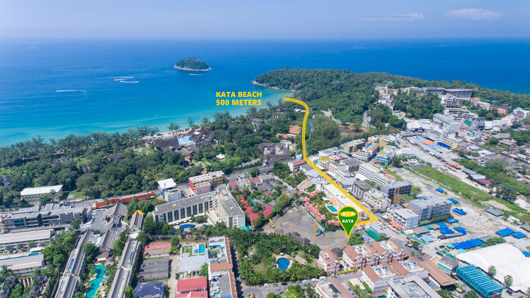vip kata condominium location phuket
