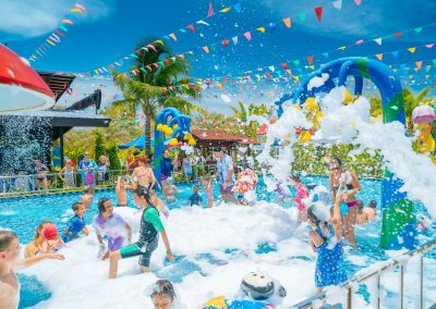 Foam party at park
