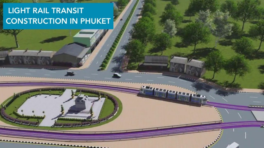 Development of  the Light Rail Transit in Phuket, proceeding EIA and surveying construction site. - 2
