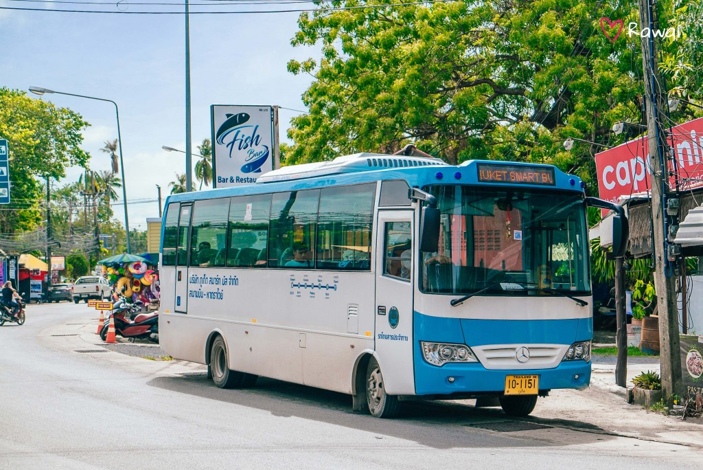 Phuket Smart Bus Launched. From Airport to Rawai for 170 Baht. - 2