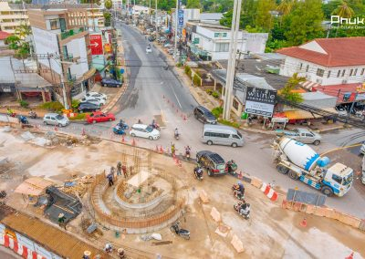 Chalong Underpass Construction, Phuket